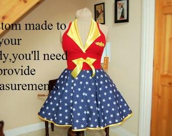 Wonder Woman dress. MADE TO MEASURE!!
