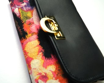 Elegant Clutch | Convertible Wallet | Crossbody Wallet | Sparkly Clutch | Evening Clutch | Colorful Floral