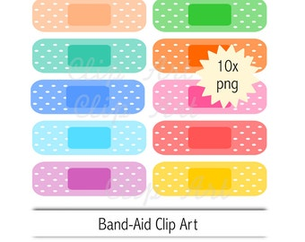 band-aid clip art - instant download - plaster clipart - medical strip png - commercial use allowed - sticker clip art - health clip art