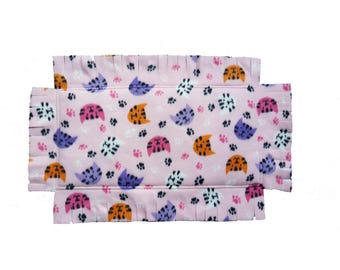 "Grandma ""T"" Catnip Infused Padded Fleece Blanket (Pink Kitty Dreams)"