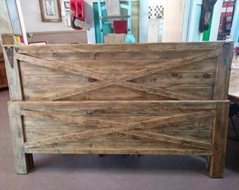 Rustic Queen Headboard & Footboard