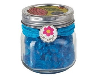Fairy Garden  - Blue Seaglass - 8 Ounces - Miniature