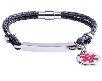 Medical Alert ID Bracelet Personalized - Medical Alert Charm - FREE ENGRAVING
