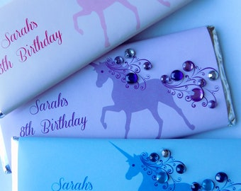 Unicorn Theme Candy Bar Wrappers with Hershey Bar-bling party favor-unicorn party-unicorn party favor-unicorn birthday party-unique unicorn
