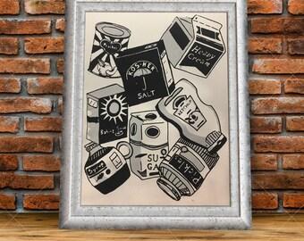 Handmade Foods Serigraph