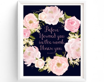 Printable Quotes  Before I Formed You In The Womb I Knew You