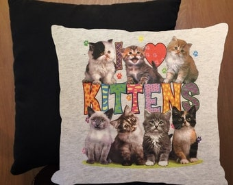 Kittens mini throw pillow