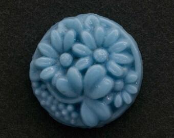 Vintage Japanese Cherry Brand molded glass stone.15mm. Pkg of 1. b5-341(e)