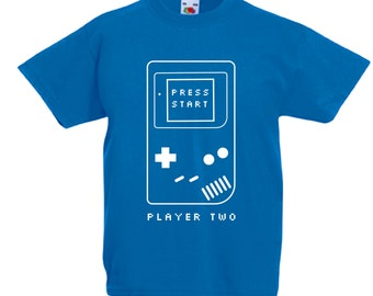 Player Two Kids Shirts or Baby Onesie, matching family t-shirts, geeky family, christmas gift, father's day gift, big brother shirt- CT-381