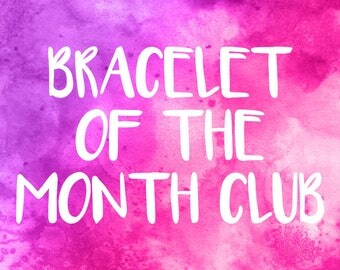 Bracelet of the Month Club, Monthly Subscription Box, Friendship Bracelet Set, Treat Box, Wax Cord Bracelets, Mystery Box, Goodie Bag