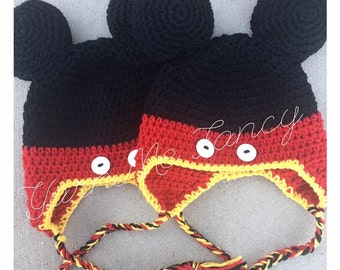 Mickey Mouse Crochet Earflap Hat