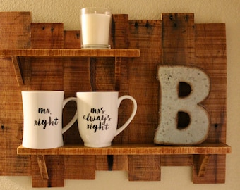 Wooden Shelf // Pallet Wood Shelf // Home Decor //