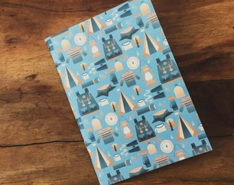 A6 Patterned Notebook
