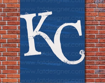 Kansas City Royals Graffiti- Art Print - Perfect for Mancave