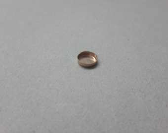 8 mm Rose Goldfilled bezel cup