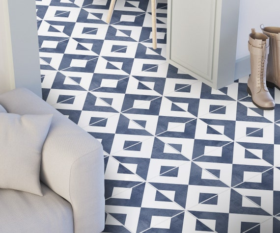 Modern Bathroom Vinyl Flooring: Modern Floor Tile Decals Flooring Vinyl Floor Bathroom