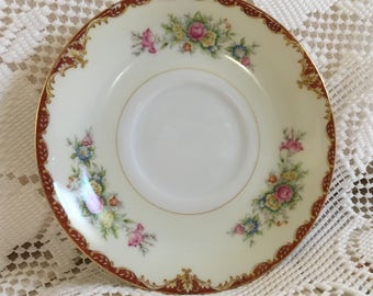 Lovely Sango China Saucer, Made In Occupied Japan, Vintage China Saucer, Pink Roses, China Wall Plate, Shabby Chic