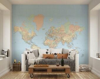 world map wall decal etsy uk aliexpress com buy large world map wallpaper mural