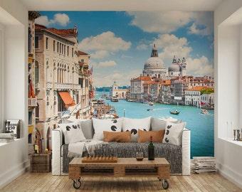 Photo Wallpaper Wall Murals Grand Canal Venice Italy Wall Decals Decor Living Room Home Design Wall Art Decals XL 84