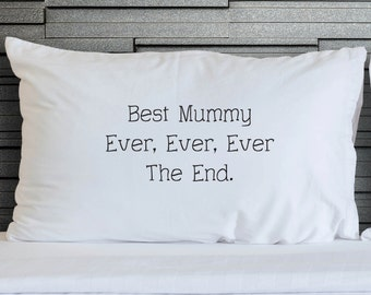 Printed Pillowcases Best Mummy Ever GirlFriend Wife Gift Mothers Day Wedding Bedroom Bedding Pillowcase Designs Home & Printed pillowcase | Etsy pillowsntoast.com