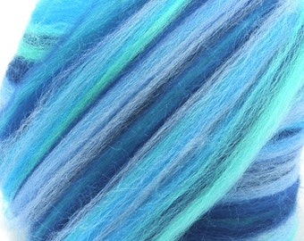 Merino Wool Combed Top/Roving by the Pound - Ocean Waves