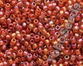 10g Toho Seeds Beads 11/0 Inside Color Jonquil Brick Red Lined TR-11-951 Rocailles size 11 red orange yellow