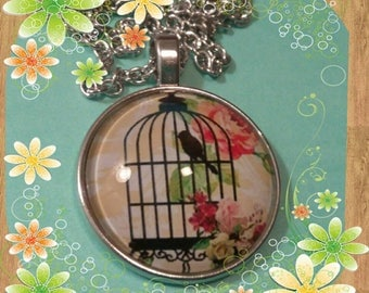 Sweet bird, singing solemly necklace, keychain  #54YTS