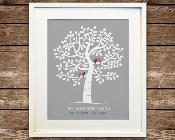Family Tree Art Family Tree Printable Custom Family Tree
