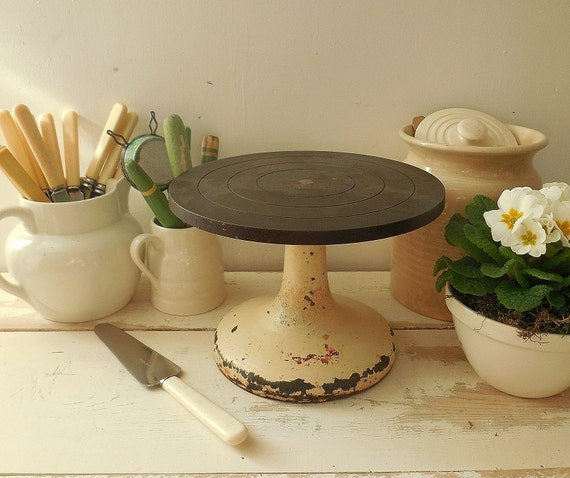 Lazy Susan Turntable For Cake Decorating : Rare vintage iron turntable cake decorating sculpture lazy