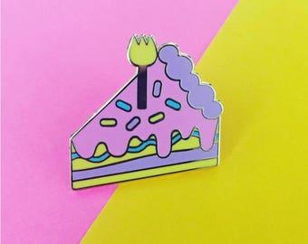 Cake Slice Lapel Pin