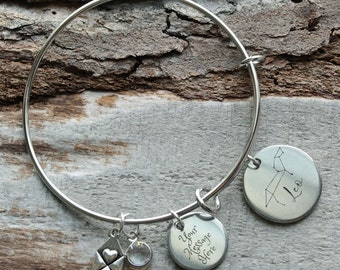 Zodiac Sign You Pick Personalized Adjustable Wire Bangle Bracelet