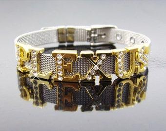 Plexus Swag Plexus Bracelet Gold Plexus Jewelry Rhinestone Slide Charm Bracelet Plexus Accessories Plexus Bling Plexus Ambassador Gift