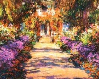 Claude Monet Il Viale Del Giardino... ~Counted~ Cross Stitch Pattern ~Computer Generated~... BBXS