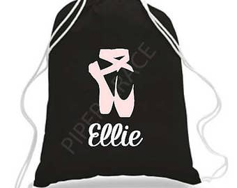 Ballet Drawstring Bag, Dance Bags, Ballet Bag, Personalized Dance Bags, Girls Dance Bag, Ballet Gifts, Personalized Dance Bag, Dance Gifts