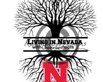 Nebraska Tree Svg, Dxf For Silhouette Cameo, Cricut Download