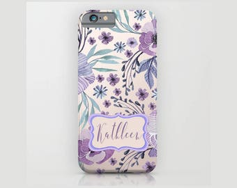 Custom Device case for iPhone 5/5s, iPhone 6/ 6s, iPhone 7/ 7s, Samsung, Galaxy, Pink, Purple, Flowers, Custom, Nature, Gift, Christmas