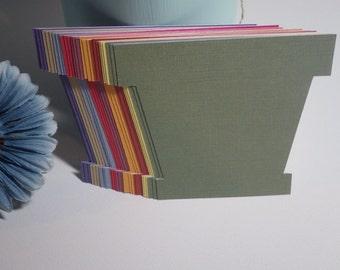 Large Flower Pot Die Cuts - 27 PC Set - 4 X 3.65 inch - Crafts - Scrapbooking - Card Making - Embellishments - VTC-0117BFP