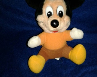 Vintage Mickey Mouse Plush small 6 inches