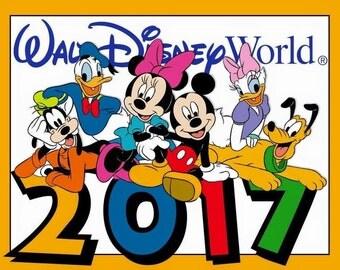 Disney World 2017  Iron On Shirt Transfer #75
