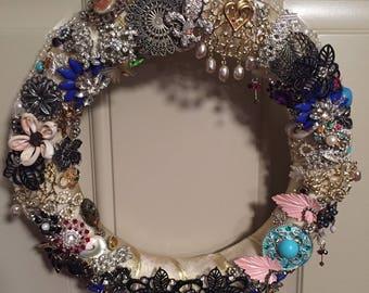 Glamorous Vintage Jewelry Wreath
