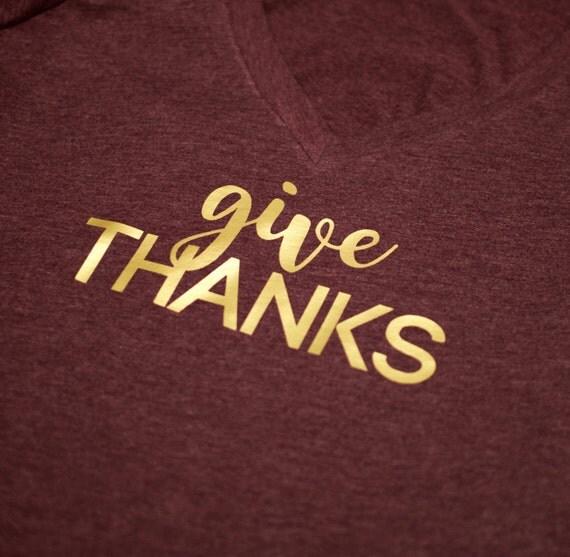 Give Thanks , Thanksgiving, Fall tshirt, give thanks tshirt, fall, autum, fall tee, hostess gift, happy fall, thanksgiving tee