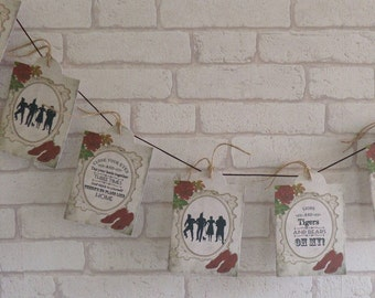 Wizard of Oz Tag Bunting/Garland Wedding,Decoration,Banner,Tea Party, Decor,Venue Decoration,No place like home, over the rainbow