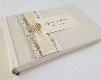 Wedding Album, Wedding Photo Album, Photo Album, Small Photo Album, Linen Photo Album, 6x4