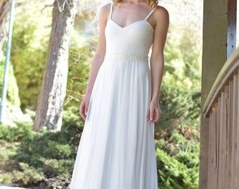 Faith On Sale Only 199 USD  -  boho wedding dress, backless  wedding dress, beach wedding dress