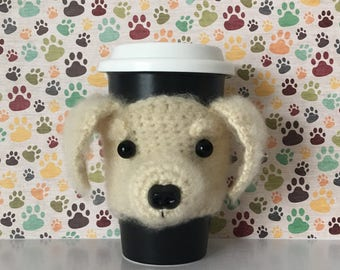 Golden Retriever Mug (Cozy) - Puppy Mug (Cozy) - Crochet Puppy - Funny Dog - Golden Retriever - Doggy Mom - I Love My Dog - Bow Wow