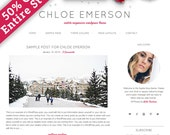 Responsive WordPress Theme, Blog Design, WordPress Blog Design, WordPress Theme, WordPress Template, Chloe Emerson
