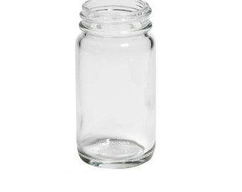 CLEARANCE (Set of 12) 2 oz Glass Jar with Gold Lid