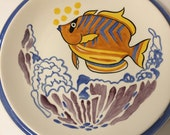 Collecible 12 inch Aloha Plate from Hawaii by Dan Blanding from Vernon Kilns 1930s