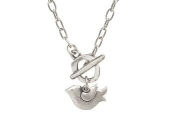 Dove Necklace, Bird Pendant, BirdLover Necklace, Dove Charm Necklace, Dove Peace Charm, Dove Pendant, Dove Peace Necklace, Silver Dove Charm