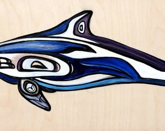 Pacific White Sided Dolphin Original Painting